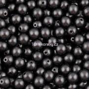 Nano Perličky - 100ks - 4mm - barva 2425037 - tmavě šedé