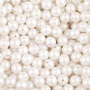 Nano Perličky - 50ks - 6mm - barva 1025001 - bílé