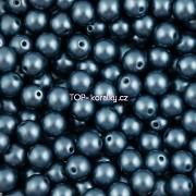 Nano Perličky - 50ks - 6mm - barva 1325033 - tmavé petrolkové