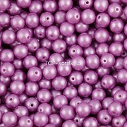Nano Perličky - 50ks - 6mm - barva 1825012 - fialové