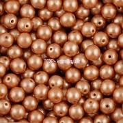 Nano Perličky - 50ks - 6mm - barva 2125003 - světle hnědé