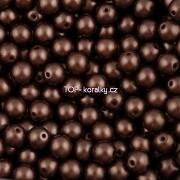 Nano Perličky - 50ks - 6mm - barva 2225036 - čokoládové