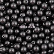 Nano Perličky - 50ks - 6mm - barva 2425037 - tmavě šedé