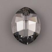 Pure Leaf přívěsek Swarovski Elements 6734 - Crystal Silver Night - 23mm