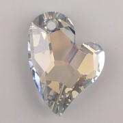 Swarovski Elements přívěsky 6261 – Devoted 2 U Heart - Crystal Blue Shade - 37mm