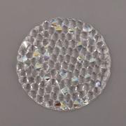 Crystal Rocks Swarovski Elements - Crystal AB na průhledném podkladu - 30mm