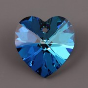 Swarovski Elements přívěsky 6228 – Srdce – Bermuda Blue –18x17,5mm