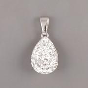 Přívěsek slzička s kamínky Swarovski Elements - Crystal - Ag925