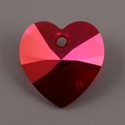 Swarovski Elements přívěsky 6228 – Srdce – Light Siam Astral Pink – 14mm