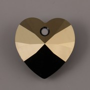 Swarovski Elements přívěsky 6228 – Srdce – Jet Blue Shade – 14mm