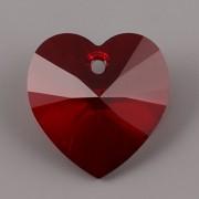 Swarovski Elements přívěsky 6228 – Srdce – Siam 18x17,5mm