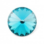 Swarovski Elements Rivoli 1122 – Blue Zirkon Foiled – 10mm