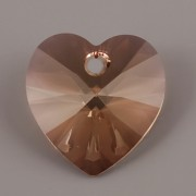 Swarovski Elements přívěsky 6228 – Srdce – Jonquil Antique Pink - 14mm