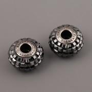 BeCharmed Pavé korálky Swarovski Elements 180201 – Hematite