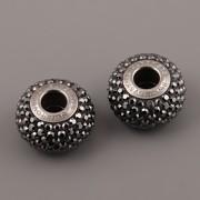 BeCharmed Pavé korálky Swarovski Elements 180101 – Hematite