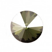 Swarovski Elements Rivoli 1122 – Peridot Satin Foiled - 12mm
