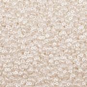 Dvoudírkový rokajl - SuperDuo® - 12,5g - NANO 1025001 - bílá