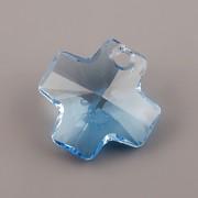 Swarovski Elements přívěsky 6866 – Křížek – Aquamarine – 20mm