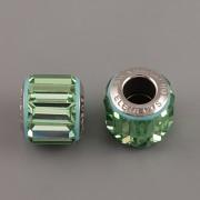 BeCharmed Pavé korálky Swarovski Elements 180301 - Peridot
