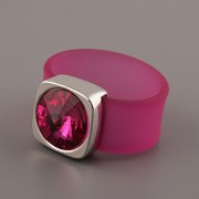 Prsten RUBBER - Fuchsia - 54mm