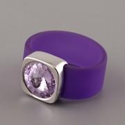 Prsten RUBBER - Violet - 56mm