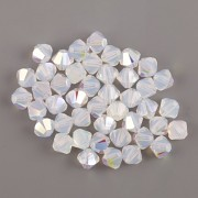 Swarovski Elements korálky XILION 5328 – Sluníčka – White Opal AB – 4mm