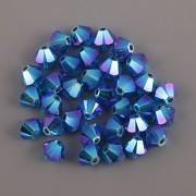 Swarovski Elements korálky XILION 5328 – Sluníčka – Capri Blue AB2x – 4mm