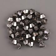 Swarovski Elements korálky XILION 5328 – Sluníčka – Silver Night - 6mm