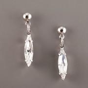 Náušnice Navette s kamínky Swarovski Elements - Crystal
