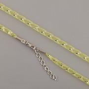 Obruč síťovaná - žlutá se stříbrným proužkem