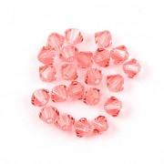Swarovski Elements korálky XILION 5328 – Sluníčka – Rose Peach – 4mm