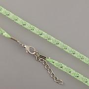 Obruč síťovaná - světle zelená se stříbrným proužkem