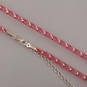 Obruč síťovaná - červená se stříbrným proužkem