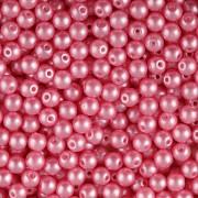 Nano Perličky - 100ks - 4mm - barva 1425008 - růžové