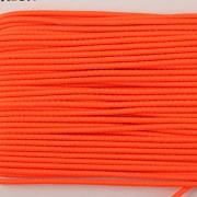 Gumička kulatá NEON oranžová 1mm - textilní povrch