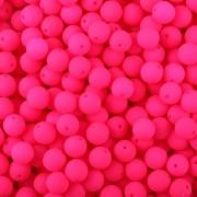 Kulička korálek NEON růžová - 4mm