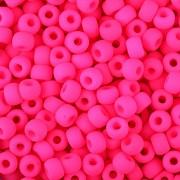 Korálky BAVORÁK neon růžová 20ks