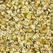 Dvoudírkový rokajl - SuperDuo® - 12,5g - pokov 6225813 - světle žlutá