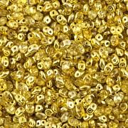 Dvoudírkový rokajl - SuperDuo® - 12,5g - pokov 6325819 - žlutá