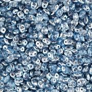 Dvoudírkový rokajl - SuperDuo® - 12,5g - pokov 7325341 - modrá