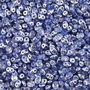 Dvoudírkový rokajl - SuperDuo® - 12,5g - pokov 7425372 - tmavě modrá