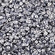 Dvoudírkový rokajl - SuperDuo® - 12,5g - pokov 7825393 - tmavě šedá