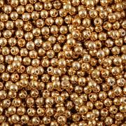 Perličky - 3mm - barva 10067861 - cca 150ks - MAT zlaté