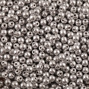 Perličky - 3mm - barva 10012473 - cca 150ks - stříbrné