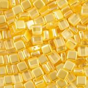 Korálky dvoudírkové TILE - 30ks - 1222582 - žlutá