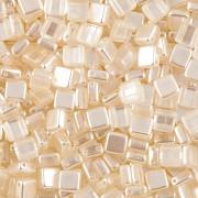 Korálky dvoudírkové TILE - 30ks - 1122502 - smetanová