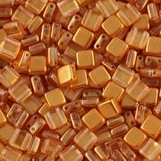 Korálky dvoudírkové TILE - 30ks - 1322580 - rezavá