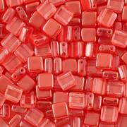 Korálky dvoudírkové TILE - 30ks - 1422588 - oranžová
