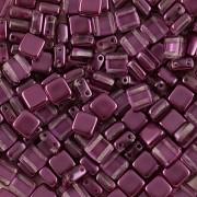 Korálky dvoudírkové TILE - 30ks - 2022516 - ostře fialová