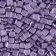 Korálky dvoudírkové TILE - 30ks - 2122512 - tanzanite